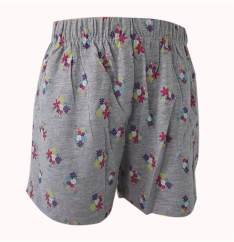 Grey Flower Printed Shorts (7yrs) (082)