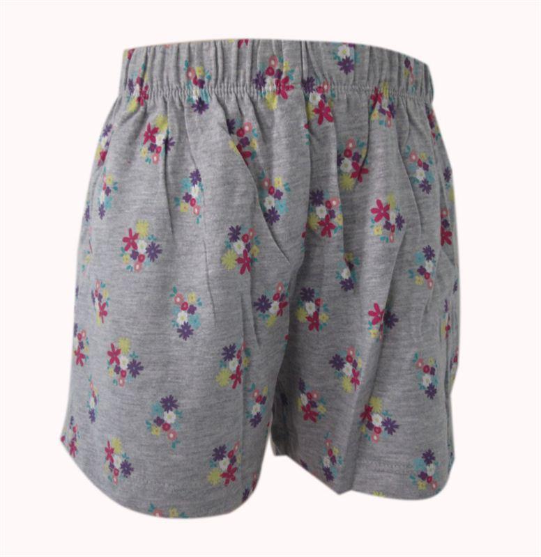 Grey Flower Printed Shorts (5 yrs) (082)
