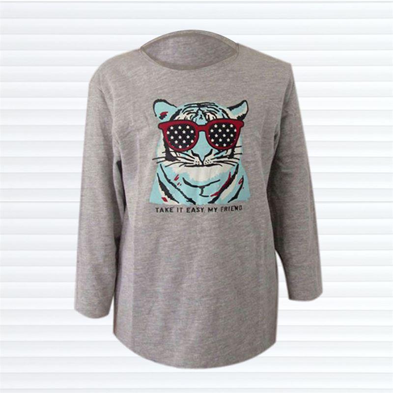 TEX Tiger Printed  T-Shirt(049-Grey)(4-5yrs)