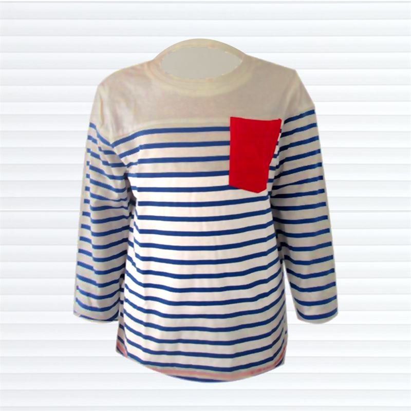 Blue Stripe T Shirt (002-Blue)(1.5-2yrs)