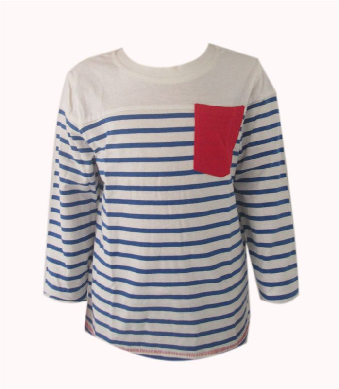 Blue Stripe T Shirt (002-Blue) (3-4yrs)