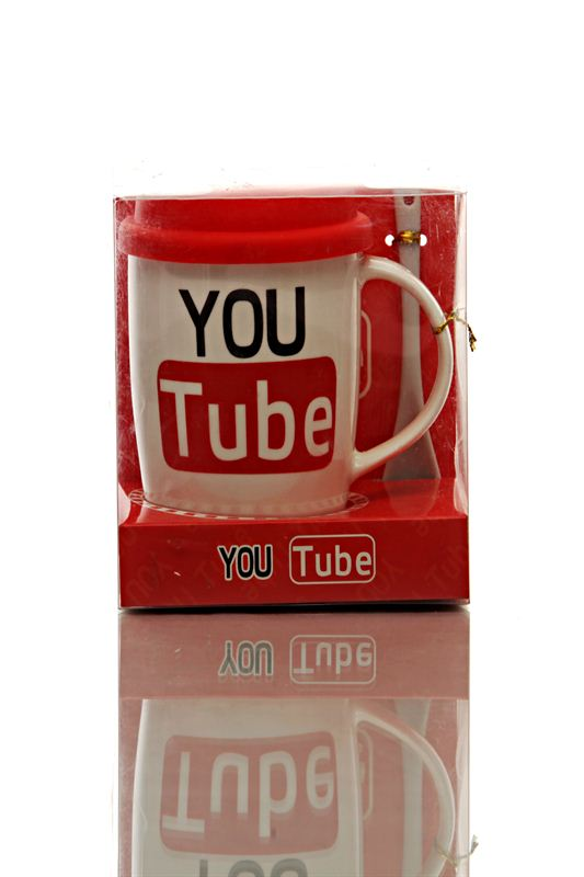 Youtube Cup With Spoon (Small)