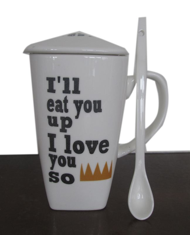 I Love You So Ceramic Mug With Spoon