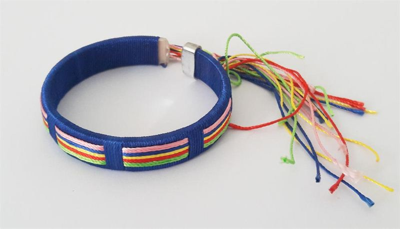 Friendship Band With Colorful Laces