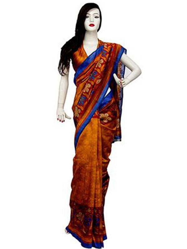 Silk Bhagalpuri Saree with Blouse piece(16SU434)