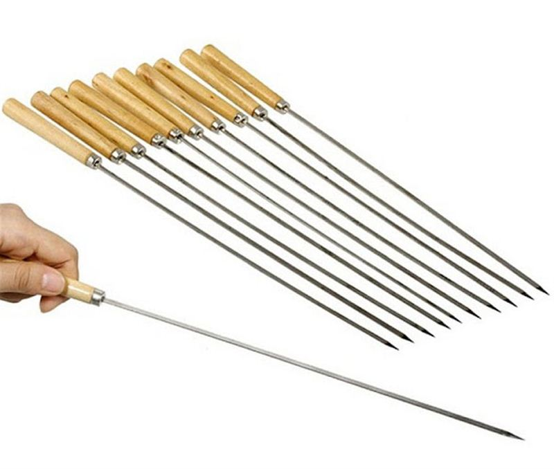 BBQ Skewers Wood Handle - (12 PCS)