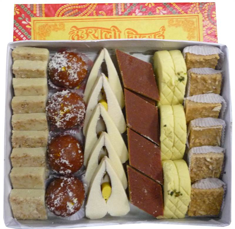 Mixed Sweets Box 4 from Hotel Deurali (SWPKR012)