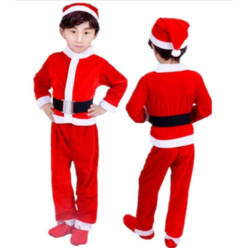 Santa Claus velvet Costume for Boys (6-9 Years)