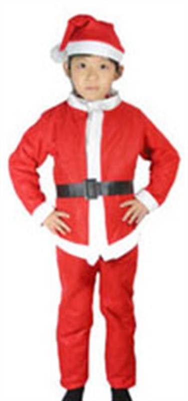 Santa Claus Velvet Costume for Boys (10-13 Years)