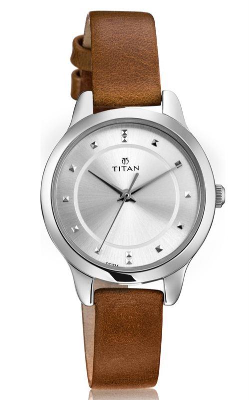 Titan Silver Dial Women's Watch (2481SL06)