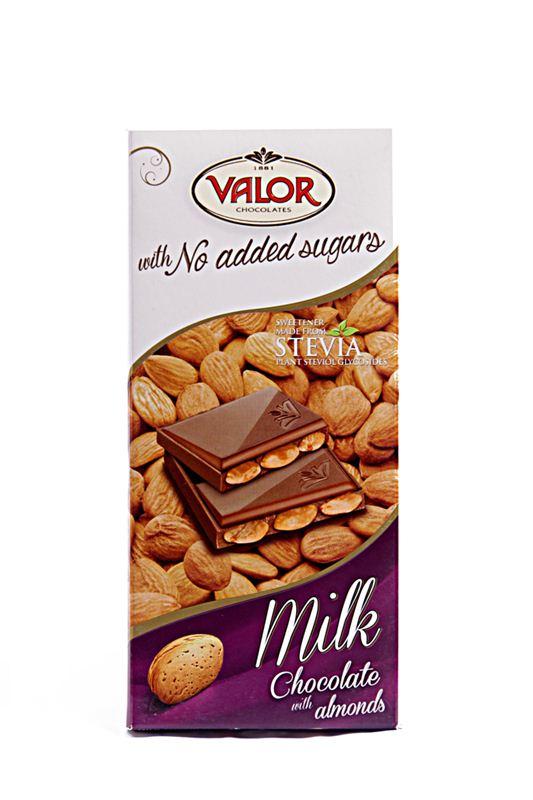 Valor Sugarfree Milk Chocolate with Almonds (150g)