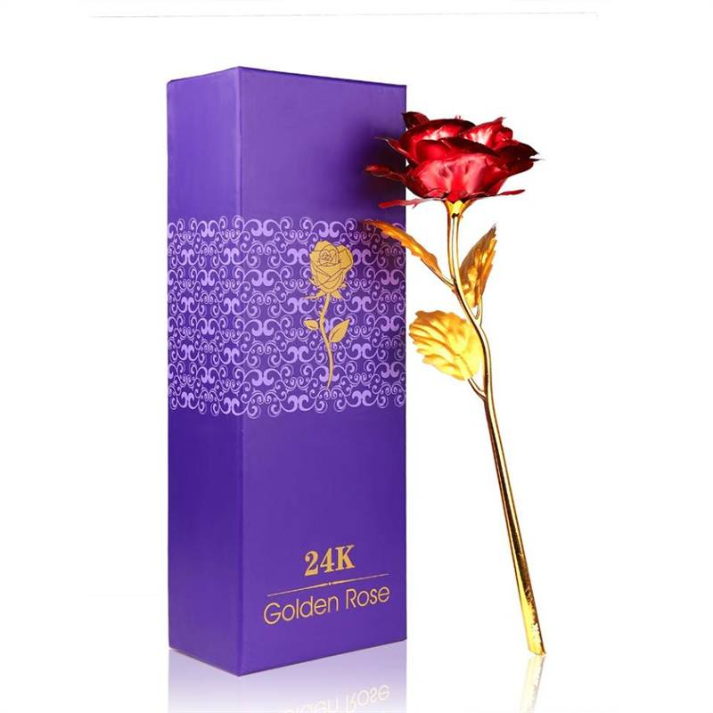 24K FOREVER Red Golden Rose