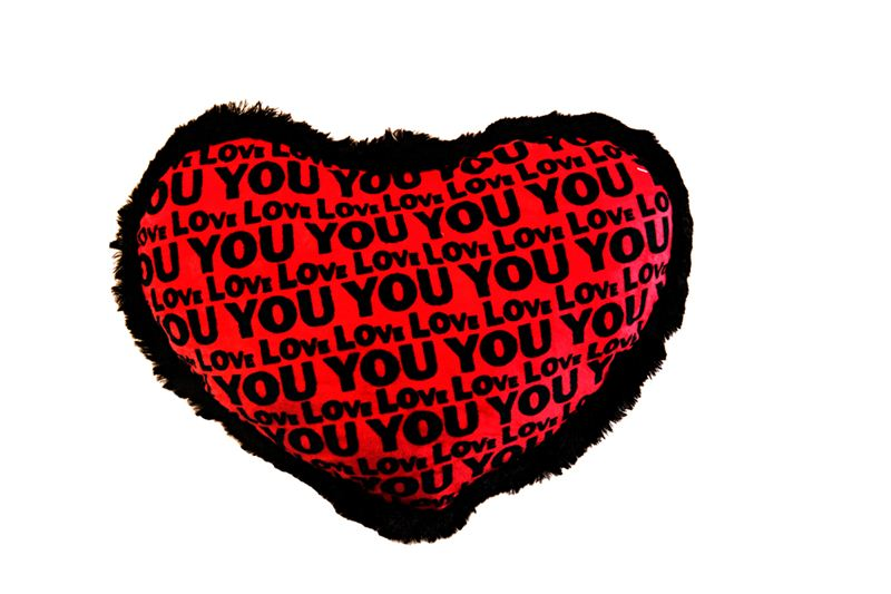 Red Love You Heart Shaped Cushion (23)