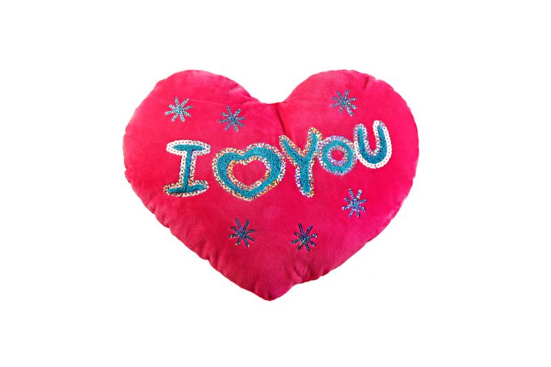 Pink I Love You Heart Shaped Cushion (27)