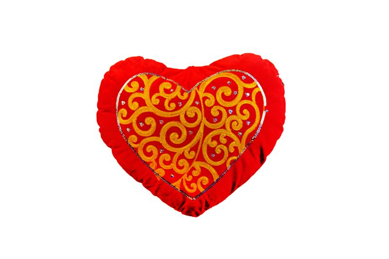 Red Heart Shaped Printed Cushion (24)