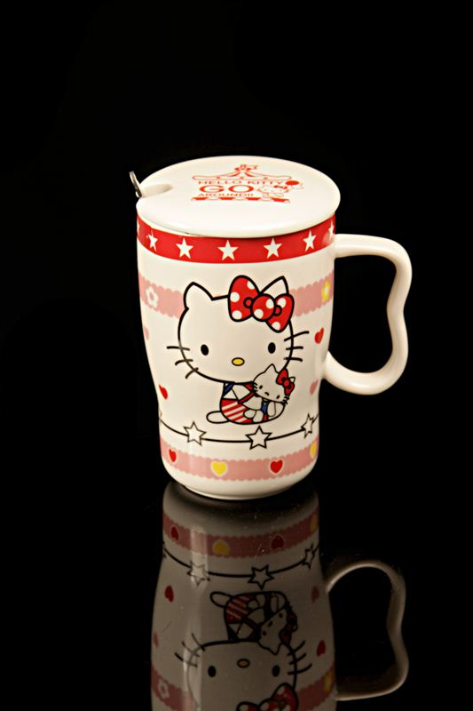 Star Printed Hello Kitty Ceramic Cup (21589)