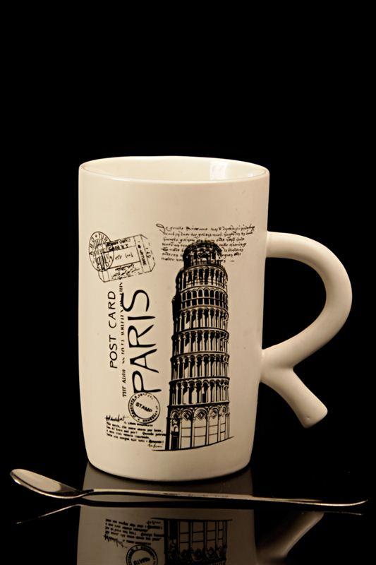 Paris Printed Ceramic Cup (21528)