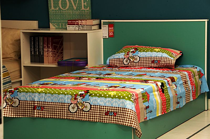 Cartoon Printed Bedsheet Multi Color- Small Bed Size