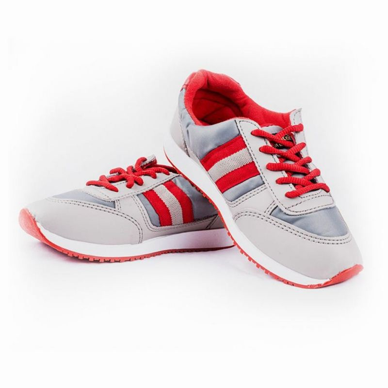 Goldstar Sports Shoes For Women - Grey/Red (Size 3)