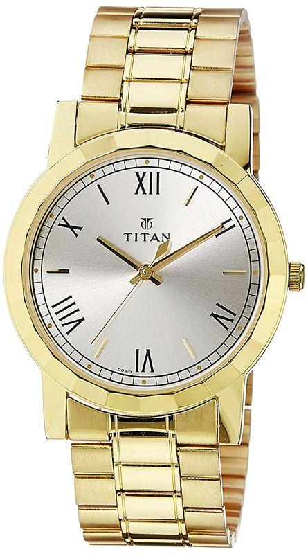Titan Analog Silver Dial Men's Watch - 1644YM01