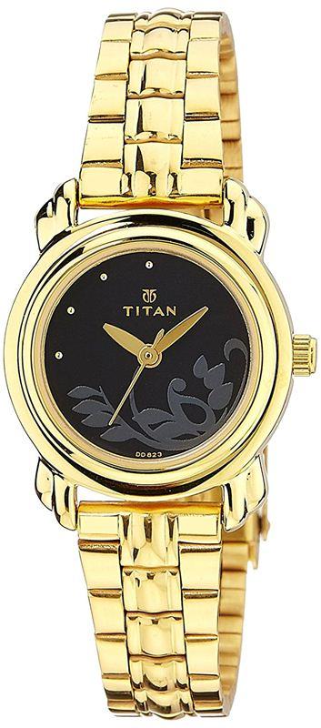 Titan Analog Black Dial Women's Watch - 2534YM02