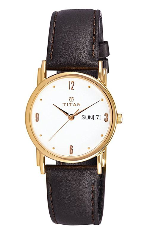 Titan Analog White Dial Men's Watch - NE1445YL04