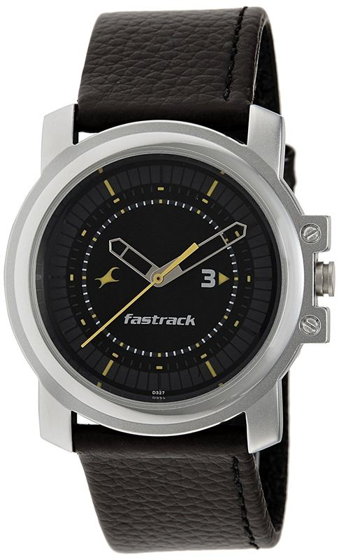 Fastrack Economy Analog Black Dial Men's Watch - 3039SL02