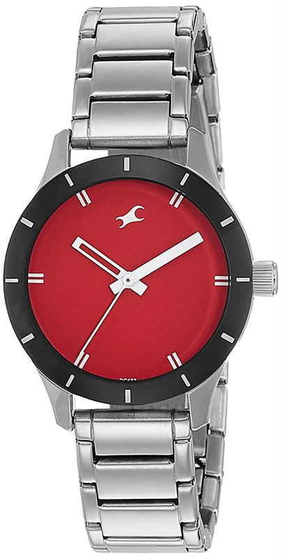 Fastrack Analog Red Dial Women's Watch-6078SM05