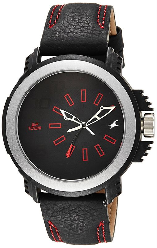 Fastrack Black Dial Analogue Watch for Men - 38015PL02