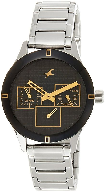 Fastrack Monochrome Analog Black Dial Women's Watch - 6078SM09