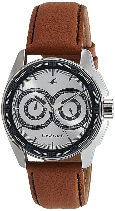 Fastrack Analog Silver Dial Men's Watch-3089SL07