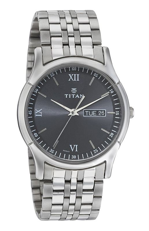Titan Karishma Analog Black Dial Men's Watch -1636SM01