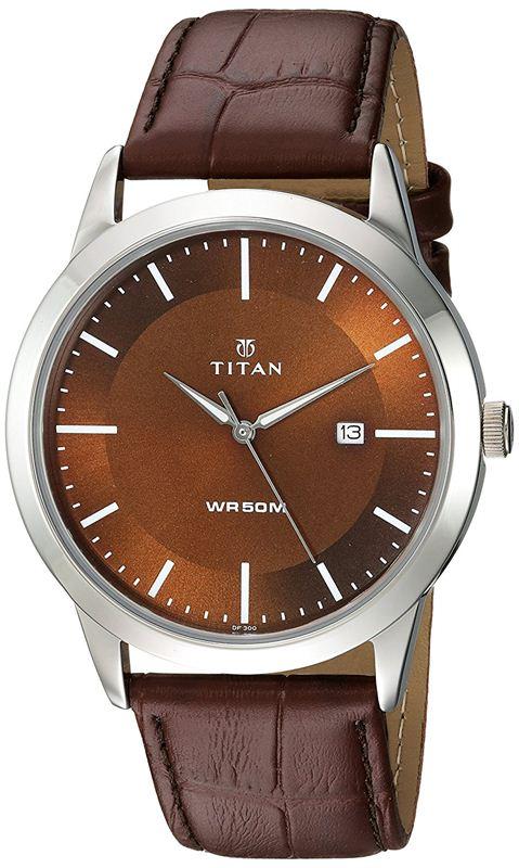 Titan Analog Brown Dial Men's Watch-1584SL04