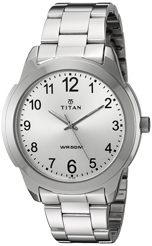 Titan Analog White Dial Men's Watch - 1585SM04