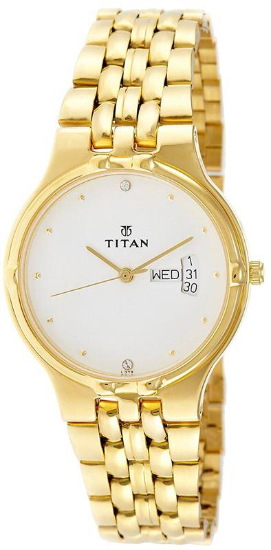 Titan Karishma Analog White Dial Men's Watch - NE1107YM07