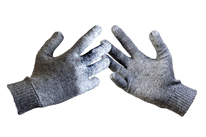 Pashmina Gloves - Gray