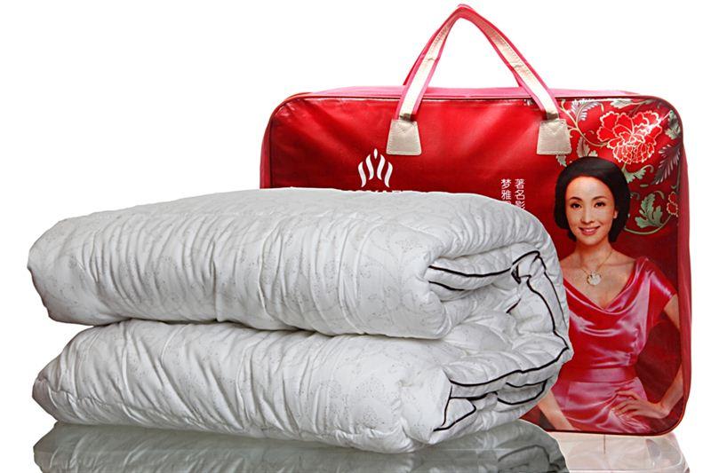 White Korean Comforter with minimal patterns