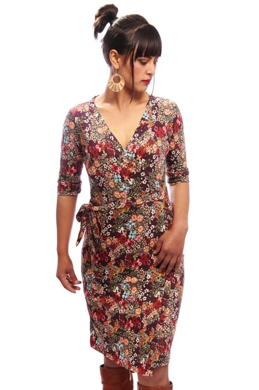 3/4th Sleeve Wrap Dress