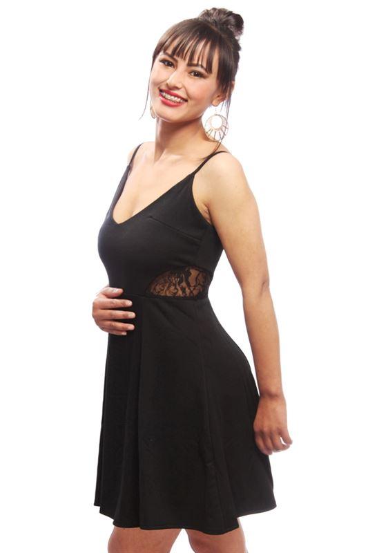 Black Swing Dress (Net on waist)