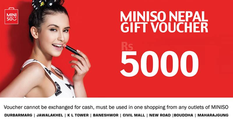 Miniso Gift Voucher worth Rs. 5,000