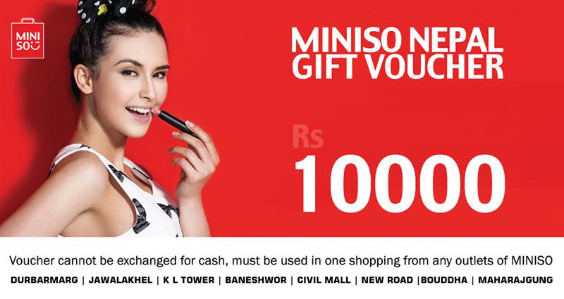 Miniso Gift Voucher worth Rs. 10,000