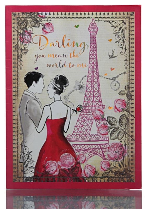 Darling You Mean the World to Me - Card