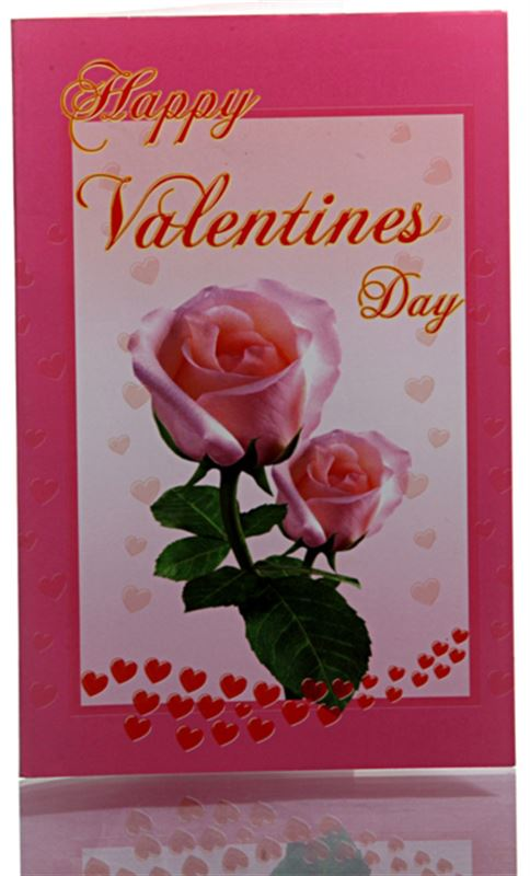 Happy Valentine's Day (Pink Roses) - Card