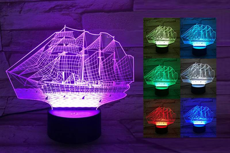 Old Ship 3D Light