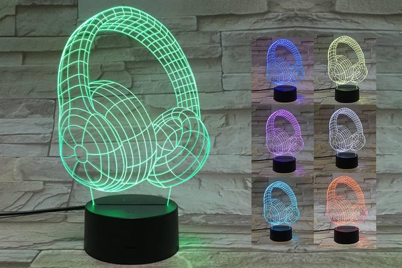 Headphones 3D Light