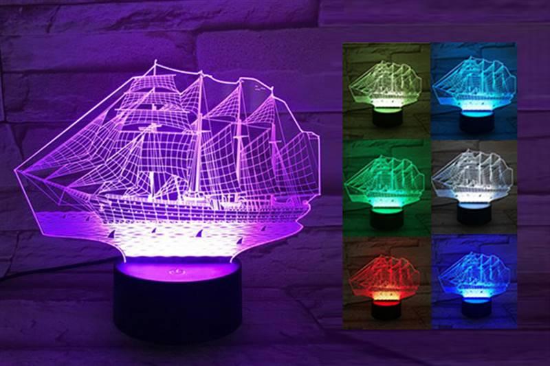 Old Ship 3D Light