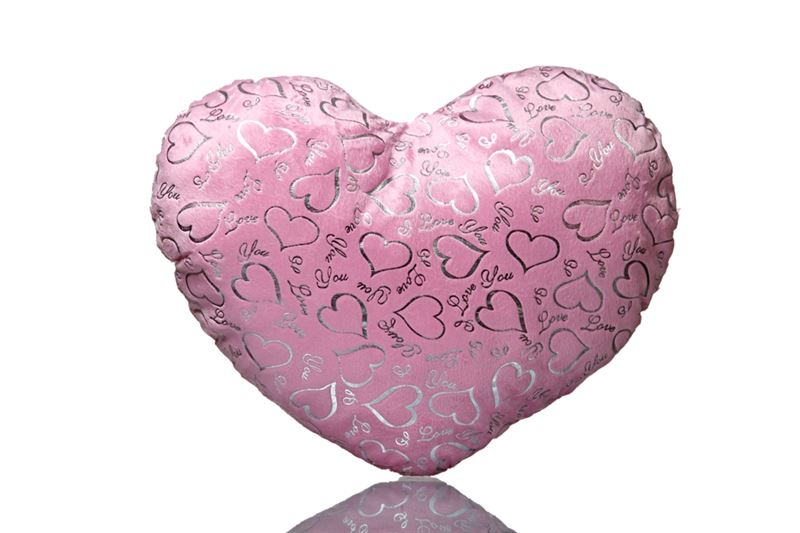 Pink Heart Love You Cushion from Hallmark