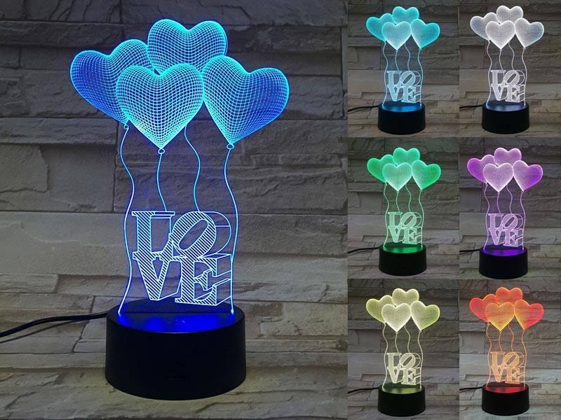Heart-shaped Balloon 3D Lights