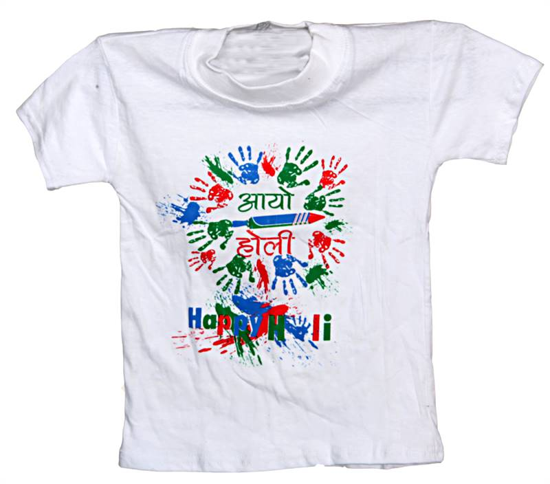 Happy Holi T-shirt for Kids