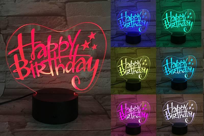 Happy Birthday 3D Light